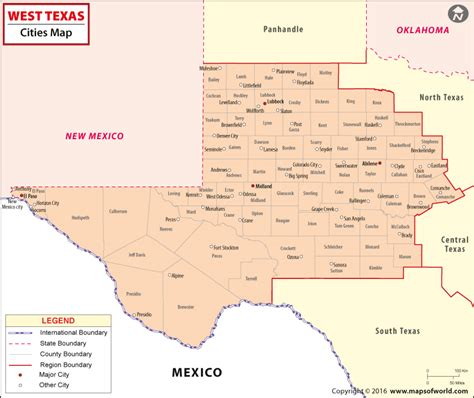 west texas cities map texas map distance between cities pictures to pin on pinsdaddy