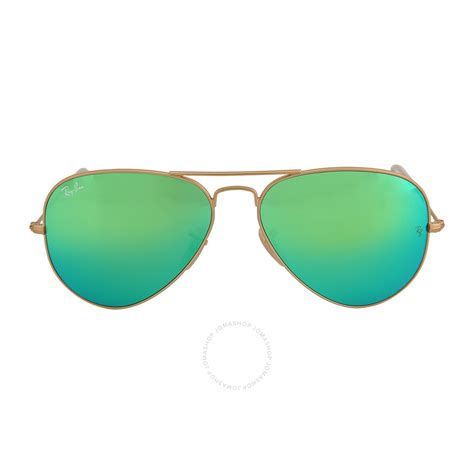 green sunglasses ban aviator arista green with mirrored lenses 58 mm