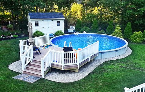 Backyards With Above Ground Pools by The Solution For Your Backyard Above Ground Pools