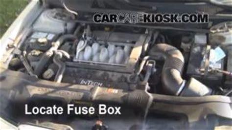 interior fuse box location   lincoln continental  lincoln continental