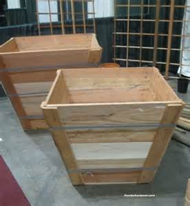 recycled wood tree box as raised vegetable planter the