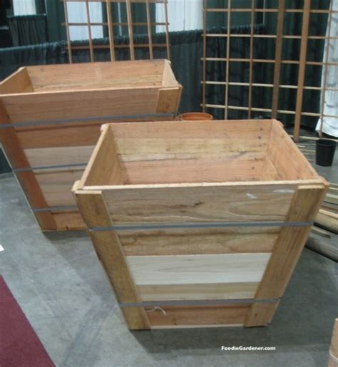 tree box recycled wood tree box as raised vegetable planter the