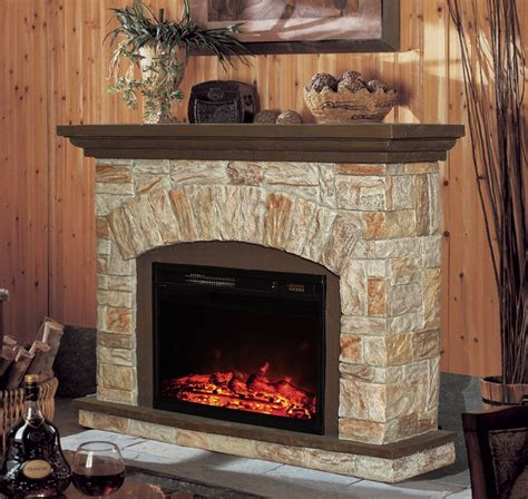 stonegate electric fireplace heater with remote black