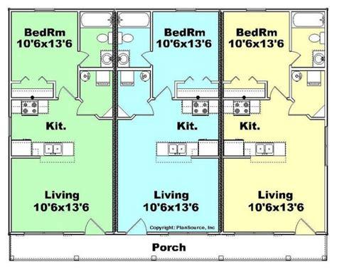 Triplex 1 Floor Plan Apartment Buildings Pinterest Small Triplex House Plans