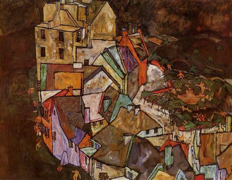Edge Of Town Krumau Town Crescent 1918 Egon Schiele