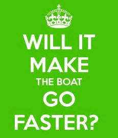 where does st go will it make the boat go faster poster tracey shier