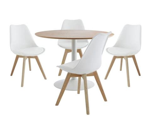 buy habitat dining set lance table and 4 jerry chairs oak