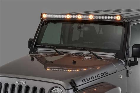 jeep tj led light bar quadratec s j5 dual purpose led light bar now available