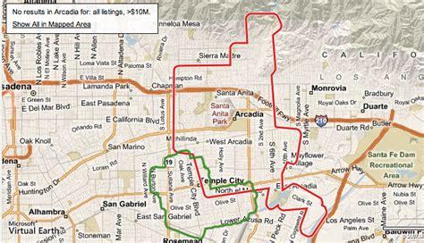 arcadia california map arcadia vs temple city 630k arcadia housing