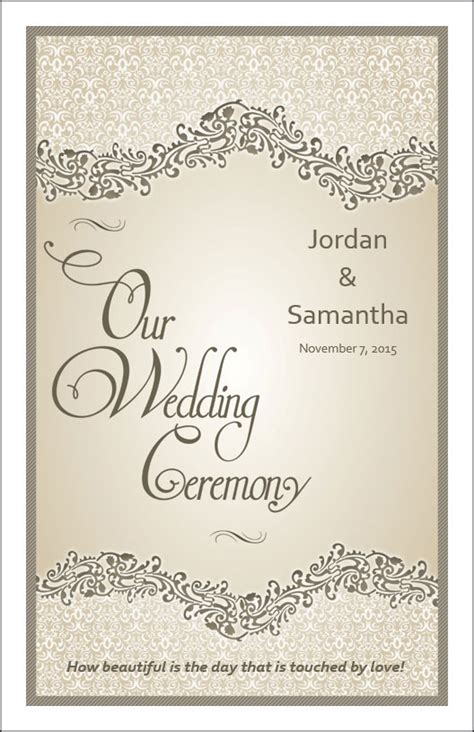 wedding program cover templates wedding program cover templates pictures inspiration