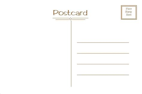 Microsoft Word 4x6 Postcard Template My Best Templates Ms Word Postcard Template
