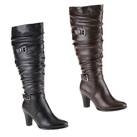womans dress boots tender tootsies deanna womens black or brown zip up