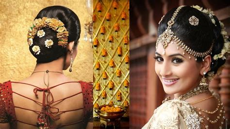 South Indian Bridal Hairstyles Reception Pictures   Hair