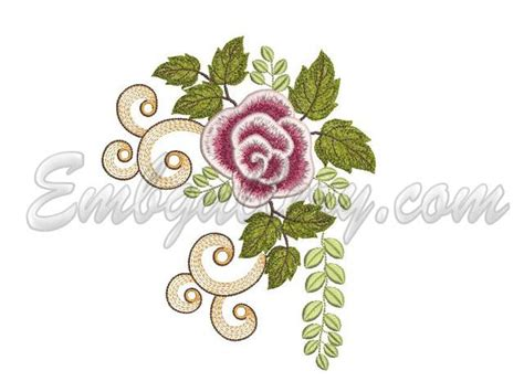 embroidery design 10x10 quot vintage roses quot for hoops 10x10mm 1 machine embroidery