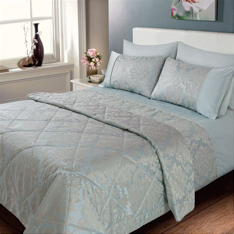 bed spreds elizabeth jacquard damask bedspread duck egg bedding