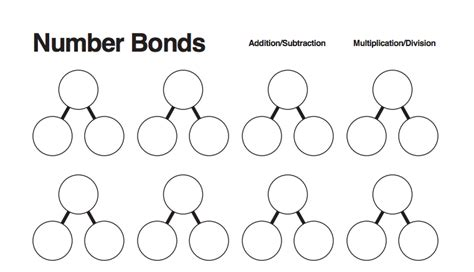Number Bonds Worksheets by Awesome Free Blank Number Bond Worksheet Hint Print Out