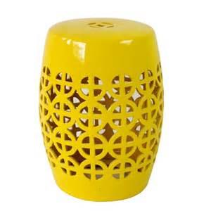 yellow ceramic drum stools hong kong at 20
