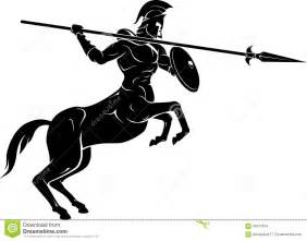 Fantasy illustration of half human and half horse creature in battle