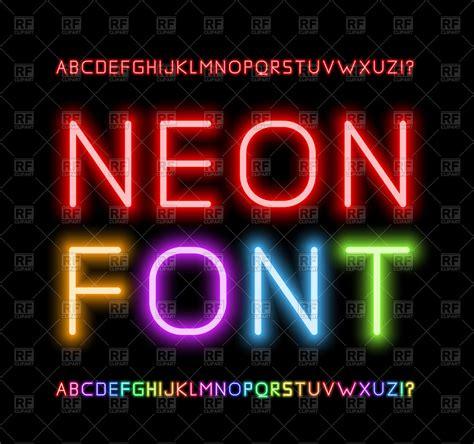 Clipart Neon neon alphabet royalty free vector clip image 74946