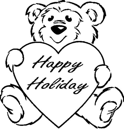 free coloring pages happy holidays animals coloring pages quot happy holiday quot