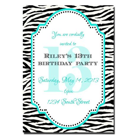 13th birthday party invitations for girls