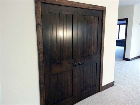 Prefer This Super Dark Stained Doors With Dark Wood Trim Staining Wood Doors Interior