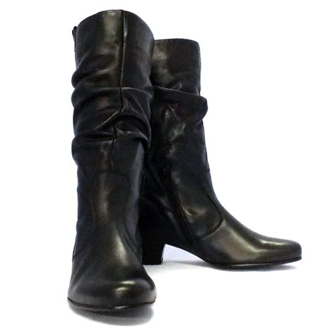 black boot gabor boots slouch mid boot in black mozimo