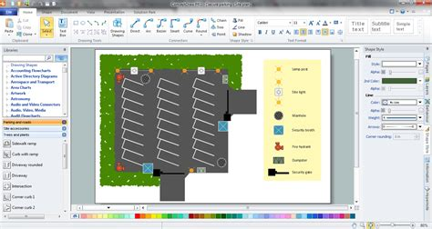 free site plan software building plan software create great looking building plan home design element site plan