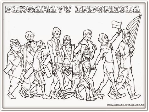 mewarnai gambar pahlawan the knownledge