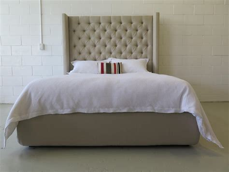 headboards nz winged deep buttoned upholstered bed