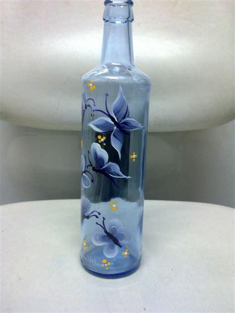 adolfina mesa botellas decoradas  pintadas  mano en