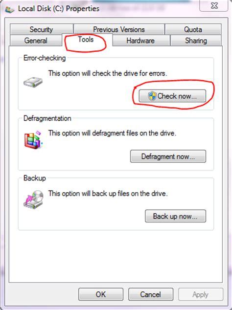 Cek Hardisk Laptop check your disk for errors