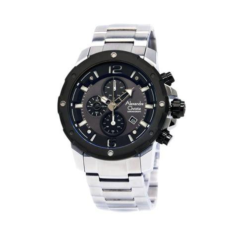 Harga Jam Tangan Hitam jual alexandre christie 6410 jam tangan pria hitam