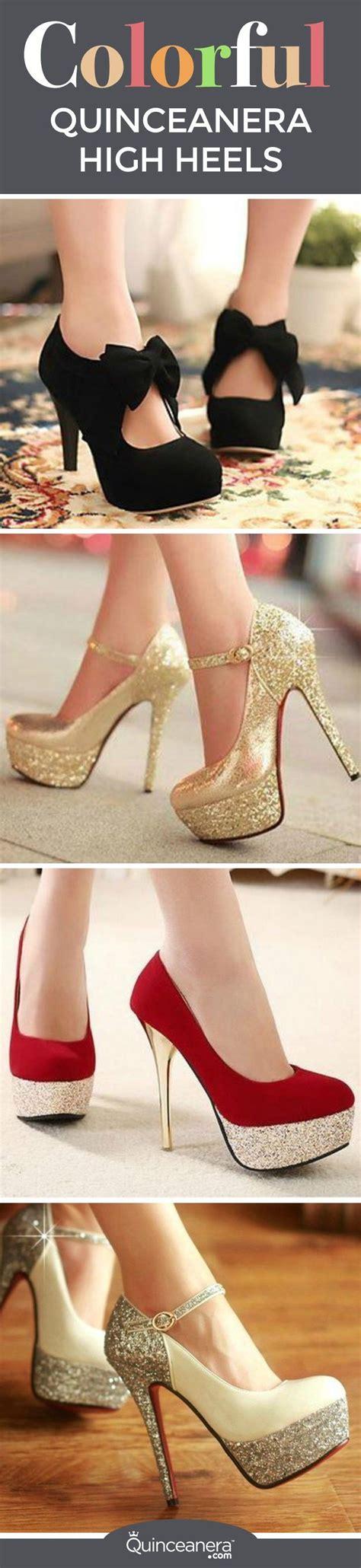 high heels for quinceaneras walking on golden quinceanera high heels