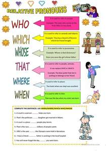 relative pronouns worksheet free esl printable
