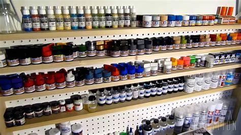 Airbrush Paint Rack by Gunpla Fixation Hobby Paint Rack