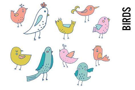 doodle bird free vector pastel bird doodle clipart illustrations creative market