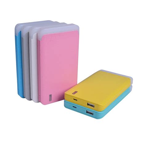Slim Polymer Power Bank 10000mah With Torch Light 1 powerbank large capacity 4000 6000 10000mah polymer power