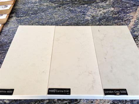 Corian Vs Caesarstone caesarstone frosty carrina caesarstone sle in organic white frosty carrina grey