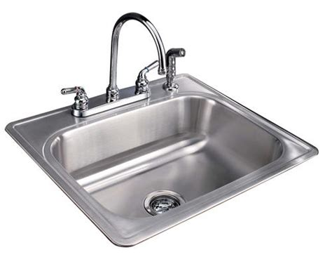 tuscany 8 quot single bowl stainless steel kitchen sink kit at
