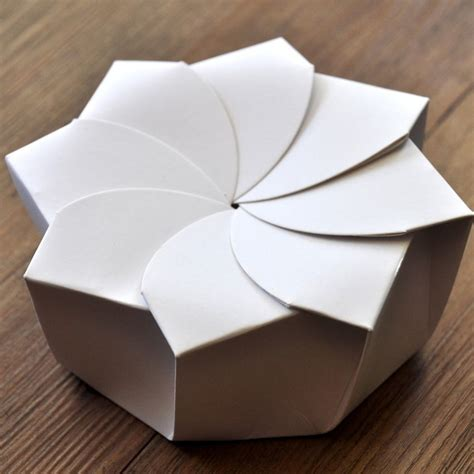 Origami Card Box - sustainable origami food box origami boxes origami and