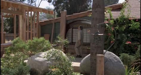 mr miyagi backyard in the movie the house located across from mr miyagi s