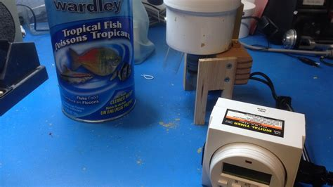 fish feeder diy diy automatic fish feeder version 2 more compact and for