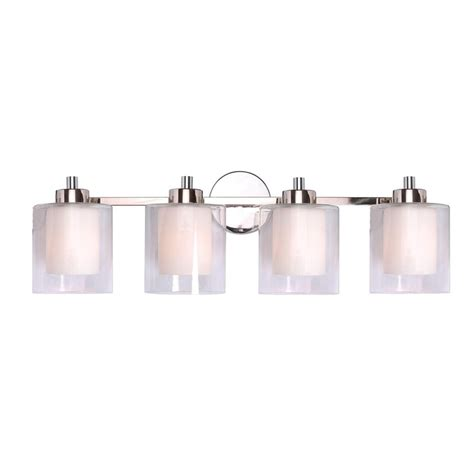 Polished Nickel Vanity Lights by Shop Kenroy Home 4 Light Orienta White Opal Polished