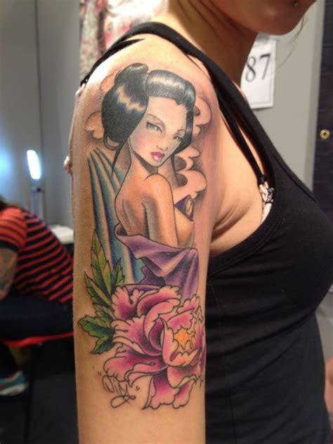 geisha nurse tattoo geisha pin up tattoo matt difa the best pin up tattoos
