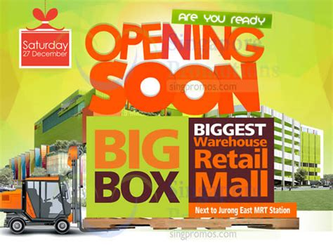 big box warehouse retail mall opening from 27 dec 2014