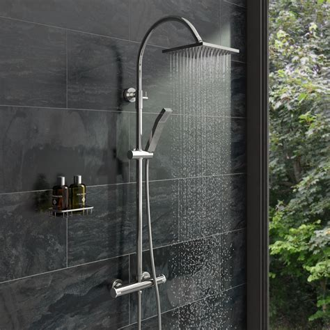 Square Shower by Square Shower Riser System Victoriaplum