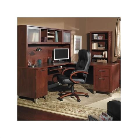 Home Office Desk Wood Bush Furniture Somerset L Shape Wood Home Office Desk