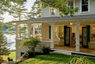 wrap around front porch pinewold cottage style porch