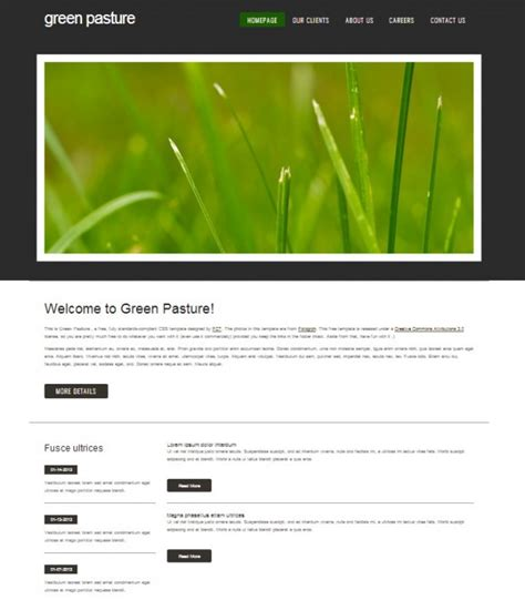 ccs template free css templates cyberuse